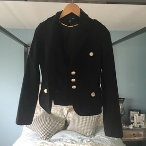 GUC H&M black with gold buttons military jacket 4